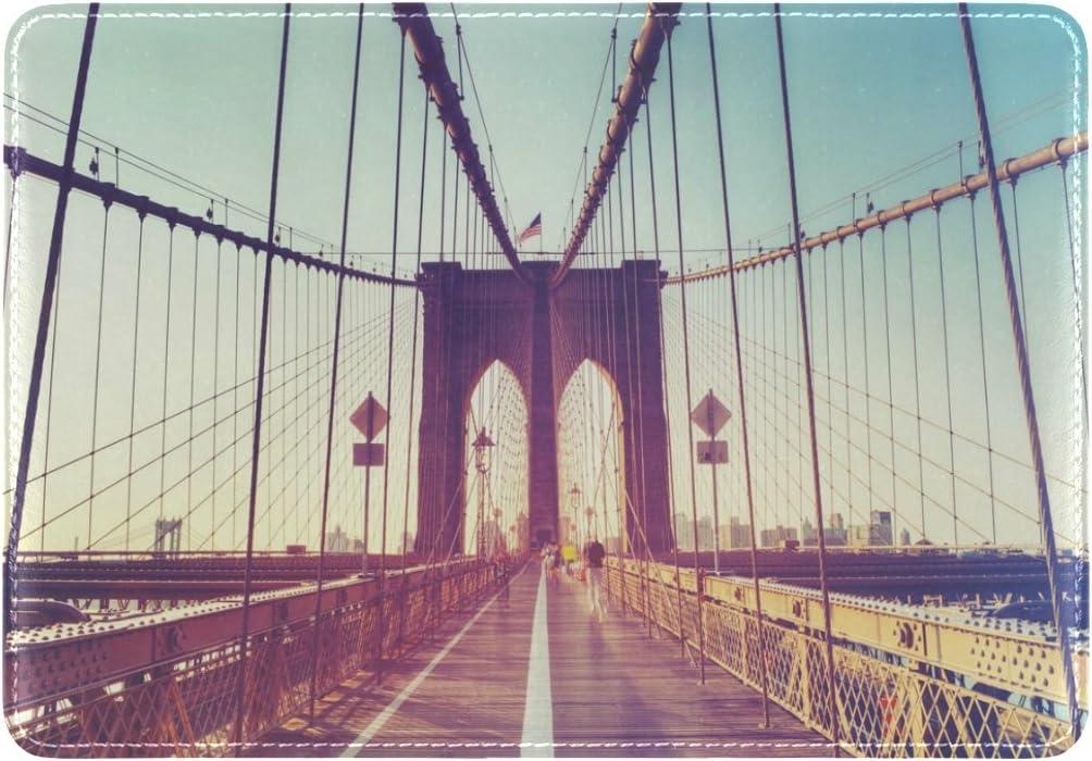 Bridge Architecture Design Leather Passport Holder Cover Case Travel One Pocket