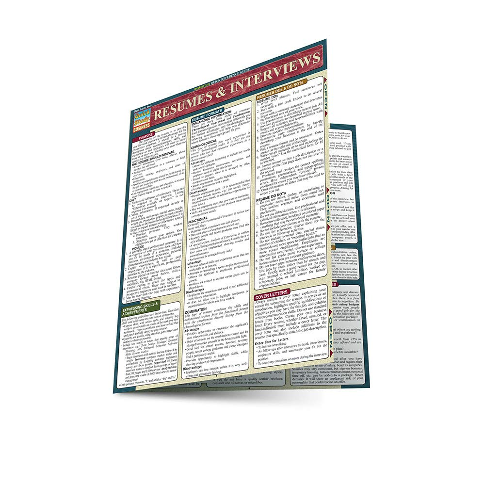 Resumes & Interviews (Quickstudy: Business): Inc. BarCharts ...