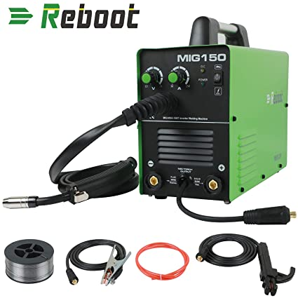REBOOT MIG Welder MIG150 Gas And No Gas DC 220V 2 in 1 Flux Core Wire Inverter Welding Machine MMA MIG MAG IGBT Inverter Welder - - Amazon.com