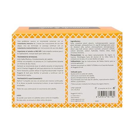 Amazon.com: Nuggela & Sulé Tratamiento Premium Anti caída 10 ...