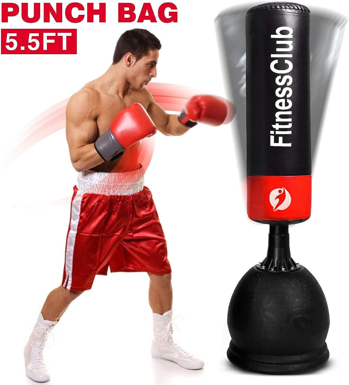 XN8 5.5ft Free Standing Punch Bag Target Kick Boxing MMA Heavy Duty Training UK