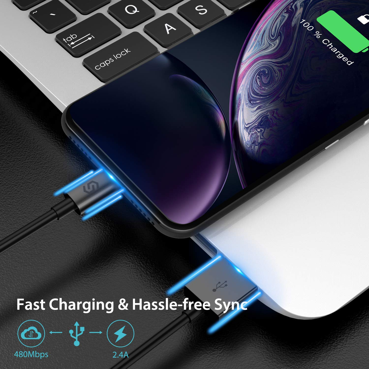 iPod White Syncwire Lightning iPhone Charger Cable - Apple MFi Certified iPad 6.5ft//2m Fast Charging Lead Apple Charger Cord Compatible with iPhone XS Max X XR 8 7 6s 6 Plus SE 5 5s 5c