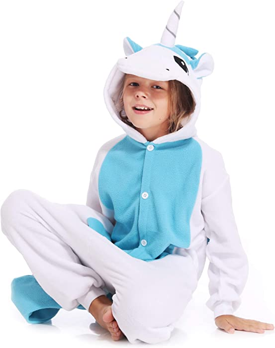 Kids Onesies Unicorn Pajamas Unisex One Piece Cosplay Halloween Christmas  Costume for Boys Girls 9ae328b7a