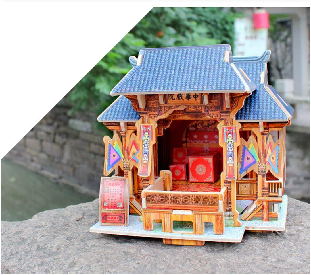 3D Three-Dimensional Puzzle Assembly Model Handmade Diy Cottage Birthday Gift JC