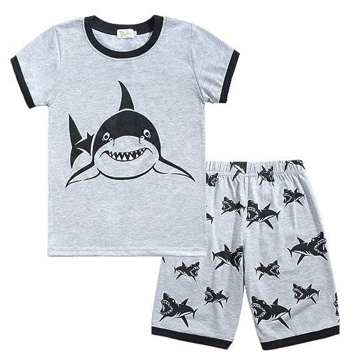 1984905724f6 Amazon.com  Baulody Toddler Boys Pajamas Fire Truck 100% Cotton Kids ...