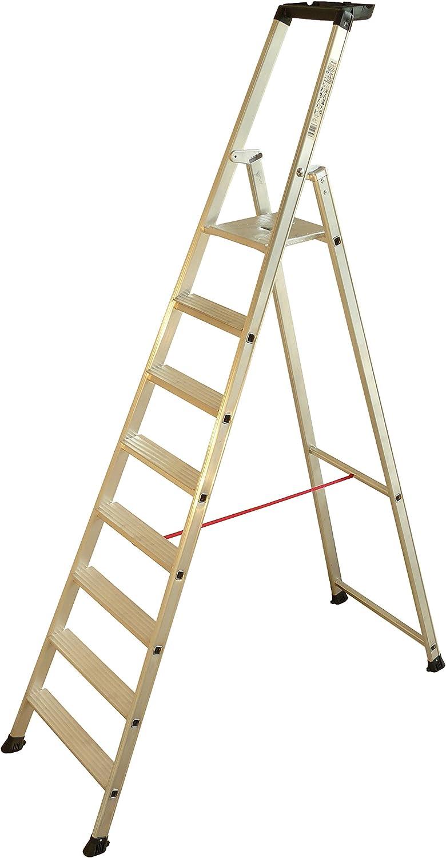 Escalux V21408 - Escalera de mano Escapro 8M Alu SuperPro 8 Bisagras engarza hierro escaleras Alu: Amazon.es: Bricolaje y herramientas