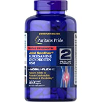 Puritan's Pride Triple Strength Glucosamine, Chondroitin & MSM Joint Soother Caplets, 360ct
