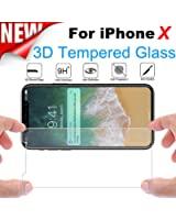 For iPhone X, Mchoice Premium Real Tempered Glass Screen Protector Protective Film Cover for iPhone X