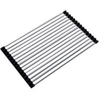 DreamColor Foldable Roll Up Dish Drying Rack Multipurpose Over The Sink Drainer Rack Kitchen Draining Board (S(23X47CM))