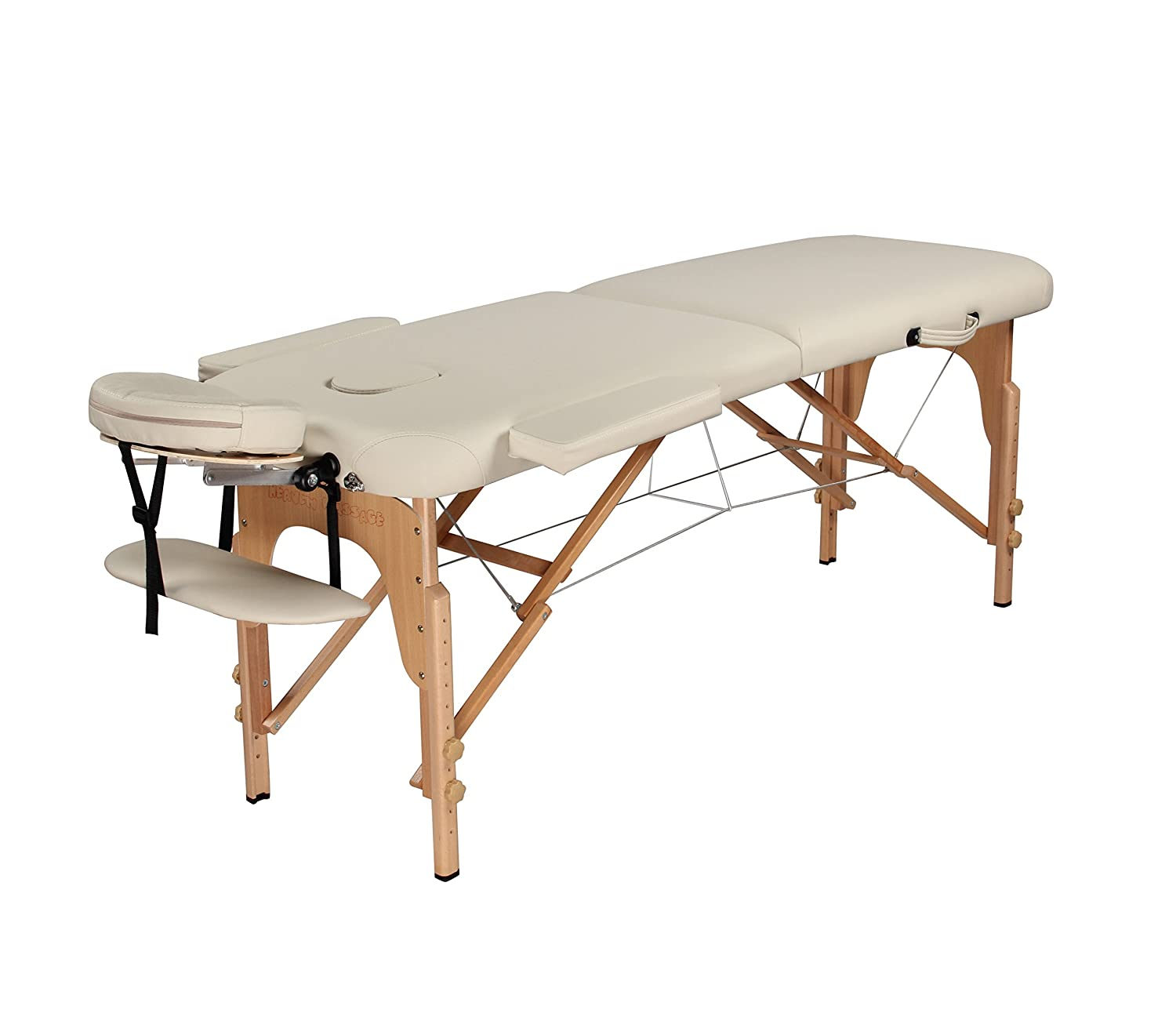 Heaven Massage Ultra lightweight Portable Massage Table - Fits in almost every trunk! Perfect for on the go.. HMTS (CREAM)