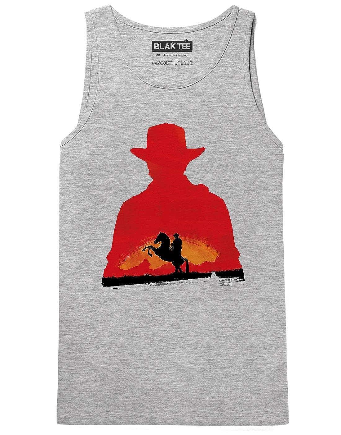 BLAK TEE Video Game Inspired Red Cowboy Redemption RDR2 Femme D/ébardeur Tank Top