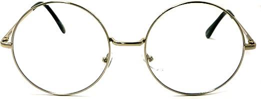OVERSIZE VINTAGE RETRO Style Clear Lens EYE GLASSES Huge Round Transparent Frame