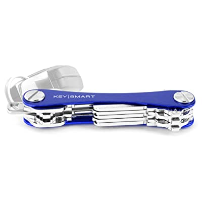 KeySmart - Compact Key Holder and Keychain Organizer (up to 14 Keys, Blue): Office Products