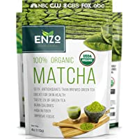 Matcha Green Tea Powder 4oz - Organic Vegan Milky Taste USDA Certified - 137x Antioxidants Over Brewed Green Tea- Great…