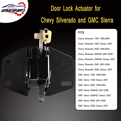 Amazon Com Rear Door Latch 3rd Door Lowe Latch Rear Left Or Rear Right For 1999 2007 Chevy Silverado Gmc Sierra Extended Cab Replaces 10356951 Automotive