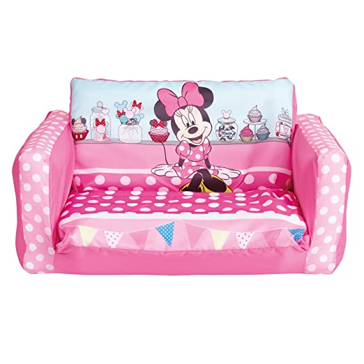 Merveilleux Minnie Mouse Flip Out Mini Sofa, Plastic, Pink: Amazon.co.uk: Kitchen U0026 Home