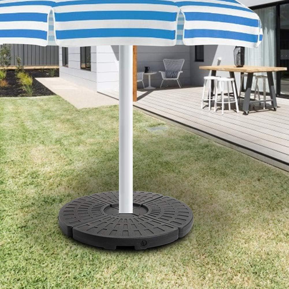 Zoternen Fan Shape Base 4Pcs Fan Shape Beach Umbrella Bases Sunshade Gravity Base Bag Sun Shelter Camping Tent Sandbags