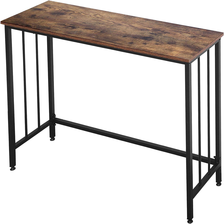 Industrial Console Table, Sofa Table for Living Room,Hallway,Entryway, Entrance Hall, Corridor - Wood Look Metal Frame 38.6