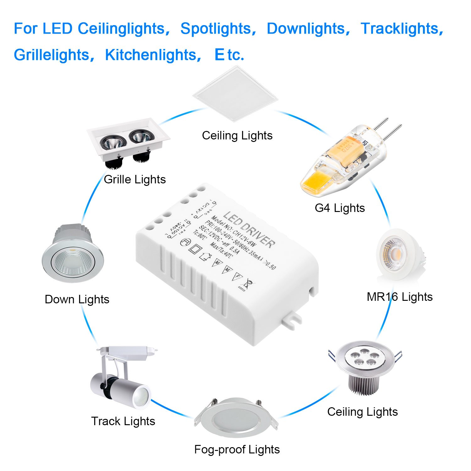 Led Power Supply Driver Transformer 6w 12v Dc 05a Constant Bulb Circuit Diagram Lamp Voltage For Leds Including Strip Lights And G4 Mr11 Mr16 Light Bulbs