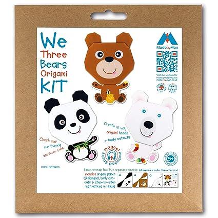 We Three Bears Origami - Kit de manualidades con imanes para ...