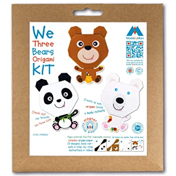 We Three Bears Origami - Kit de manualidades con imanes para ...