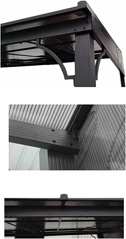 Cubierta rígida de aluminio para terraza Toledo de osoltus, 3 x 4 ...