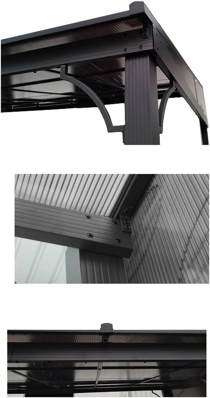 Cubierta rígida de aluminio para terraza Toledo de osoltus, 3 x 4 m, color gris antracita: Amazon.es: Jardín