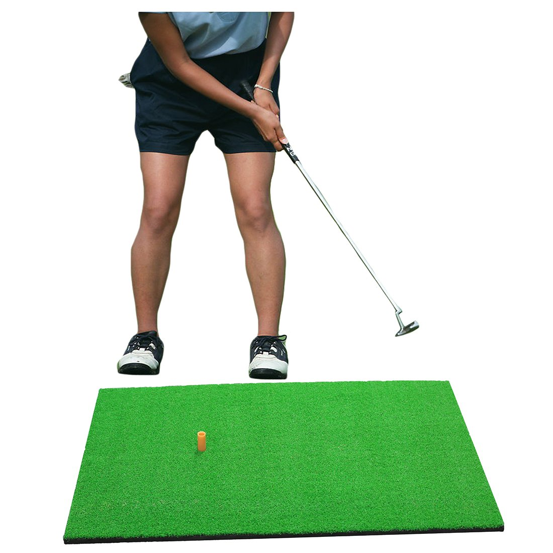 """TRUEDAYS Golf Mat 19""""x31"""" Residential Practice Hitting Mat Rubber Tee Holder"""