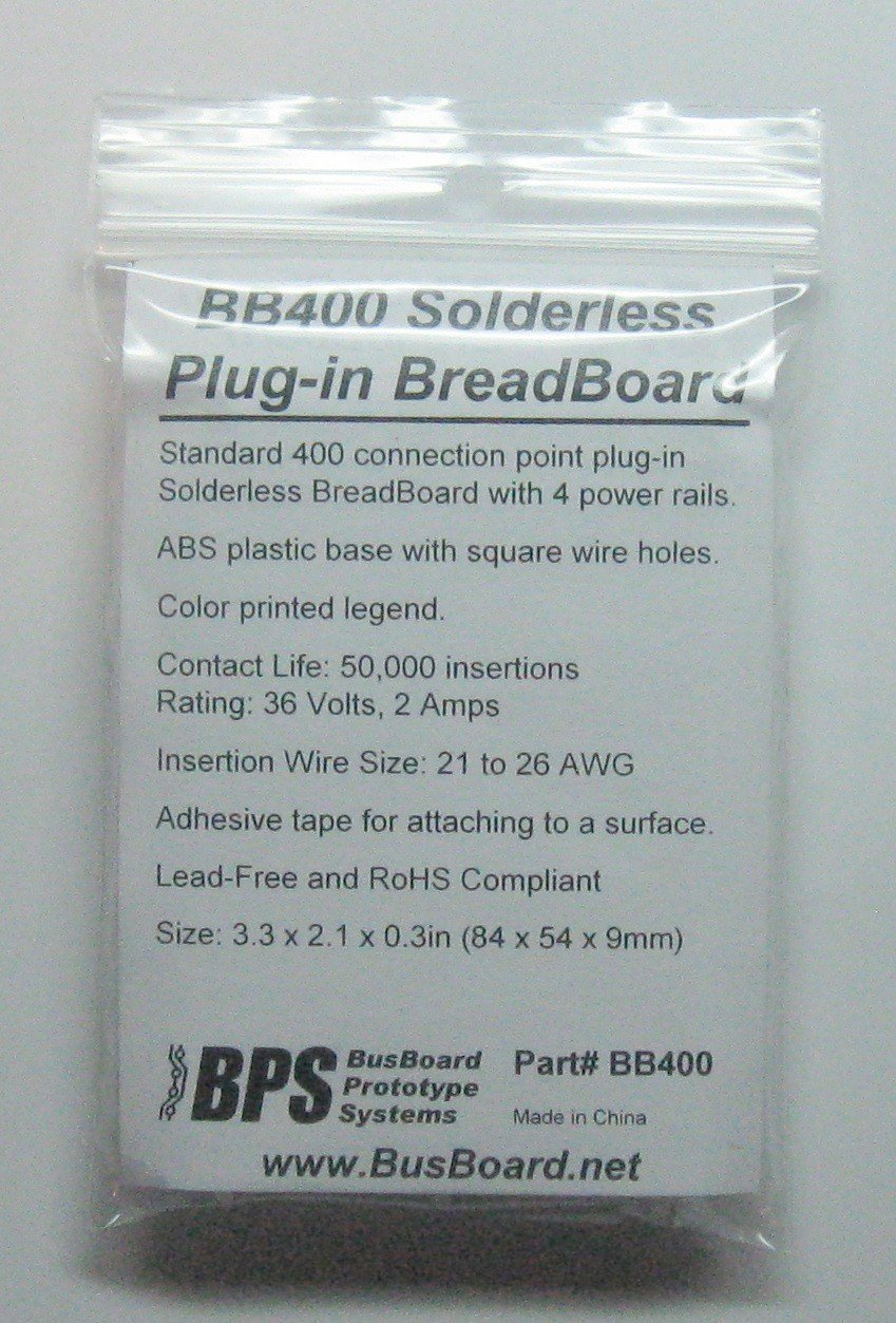Bb400 Solderless Plug In Breadboard 400 Tie Points 4 Breadboards Provide A Way Of Creating Circuit Without Power Rails 33 X 22 03in 84 55 9mm Toys Games