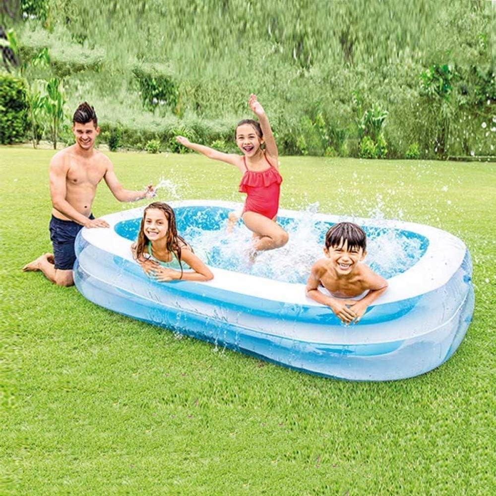 AYWJ Piscina Inflable Al Aire Libre Piscina De La Bola De La Ola del Jardín Al Aire Libre Piscina Infantil para Niños, Blue-262 * 175 * 56cm