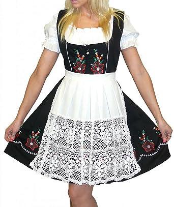 ca8f6bdb4269b Amazon.com  Dirndl Trachten Haus 3-Piece Short German Wear Party Oktoberfest  Waitress Dress  Clothing
