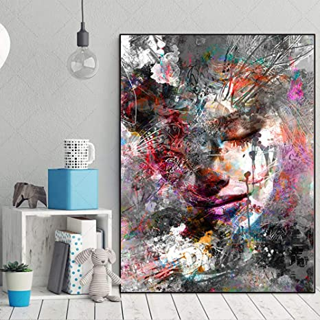 MUTU Art Canvas Painting Picture Wall Poster Abstract ...