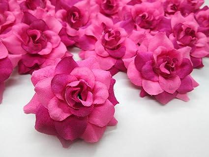 Amazon 24 Silk Pink Roses Flower Head 175 Artificial