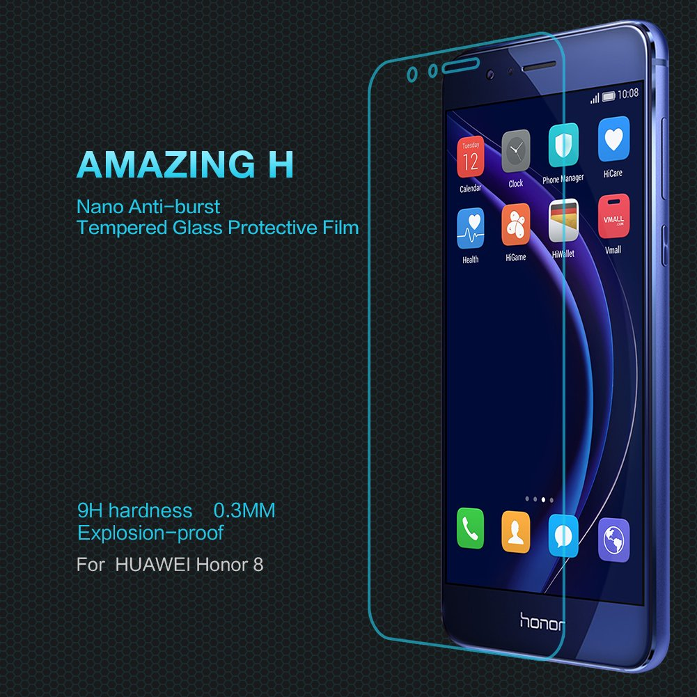 Huawei Honor 8 Screen Protector Sanmin Tempered Glass Anti Gores Xiaomi Redmi 4 Prime Pro Nillkin Amazing H Original Glare Fingerprints High Definition 033mm 9h Hardness For Electronics