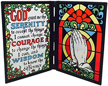 amazon com serenity prayer stained glass frame arts crafts sewing
