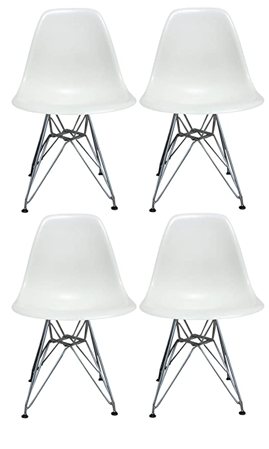 Plata Import Eames Style Side Chair With Chrome Legs Eiffel Dining Room