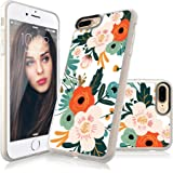 iPhone 8 Plus Case, iPhone 7 Plus Case for girls, Custype Floral Customizable Soft TPU Shockproof Anti-Scratch DIY Protective Flexible Case for iPhone 7 Plus/iPhone 8 Plus (Floral)