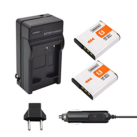 2 unidades 1600 mAh batería de repuesto con cargador NP-BG1 para ...