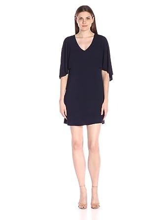 71848f8f22e Amazon.com  Trina Turk Women s Marino Matte Jersey Cape Dress Indigo ...