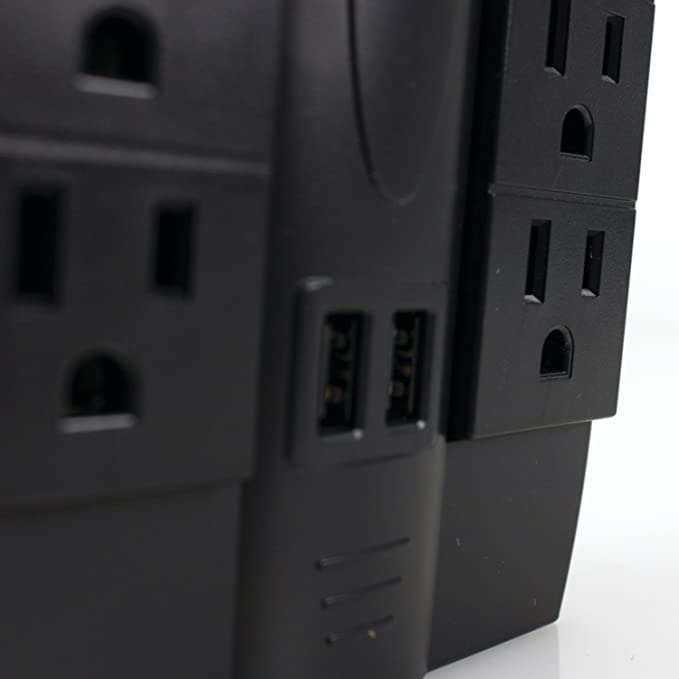 Amazon.com: FOXSMART 40102 6-Outlet Swivel Surge Protector with 2 USB Ports: Sports & Outdoors