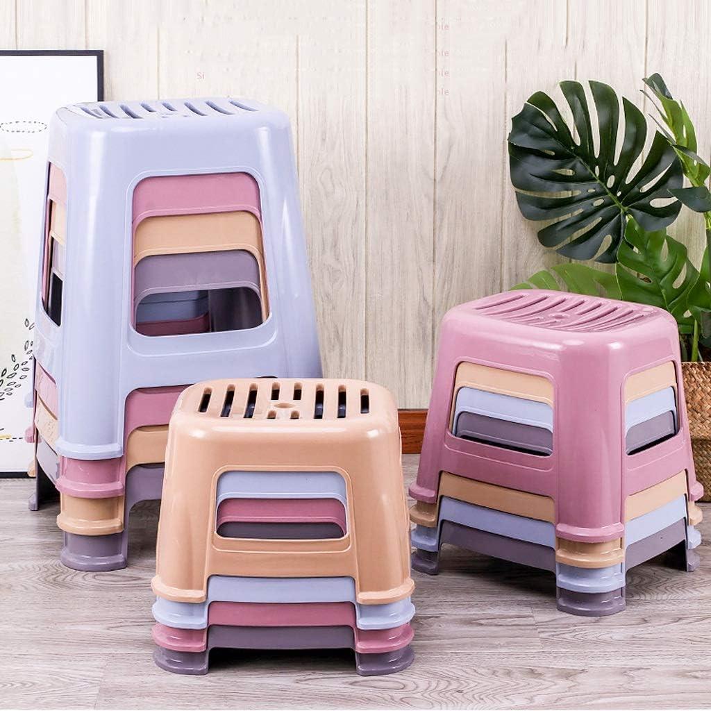 CHQYY Sedie- Plastica Sgabello/Sgabello Bambino/Cucina Step up/Sgabello Bambini Leggero/Step up Bagno Sgabello/impilabile (Colore : Pink) Blue