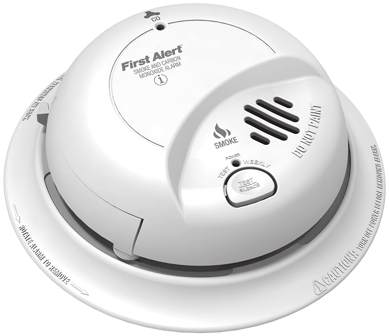 BRK First Alert SC9120B Hardwire Combination Smoke/Carbon Monoxide Alarm  with Battery Backup 4 Pack - Smoke Detectors - Amazon.com