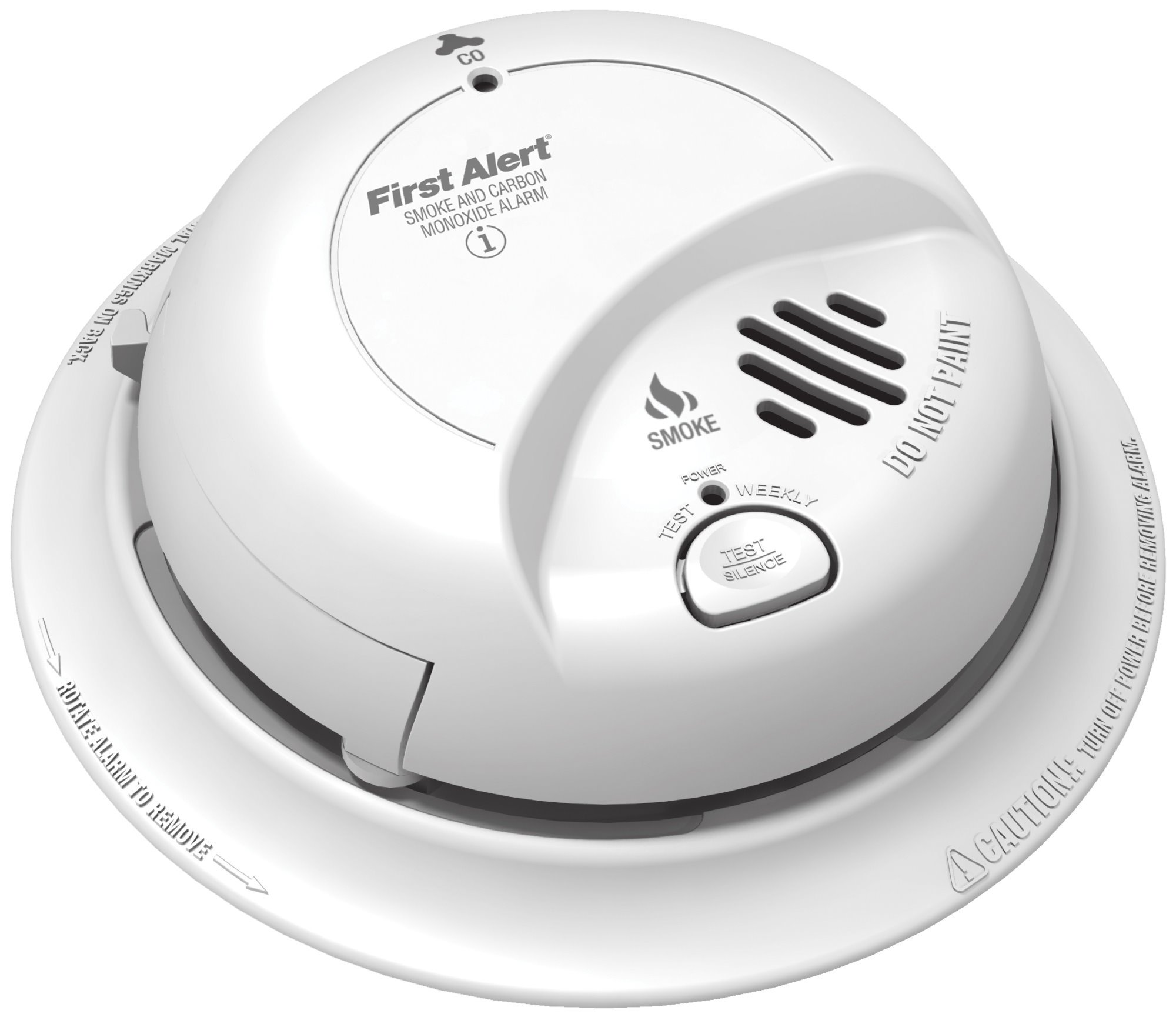 BRK First Alert SC9120B Hardwire Combination Smoke/Carbon Monoxide Alarm with Battery Backup 4 Pack by  First Alert