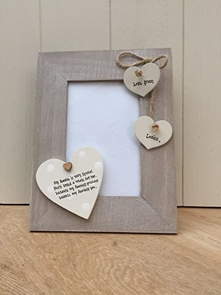 Shabby Personalised Chic AUNTIE GIFT Auntie Aunty Great Aunt Photo Frame BIRTHDAY PRESENT Gift Amazoncouk Kitchen Home
