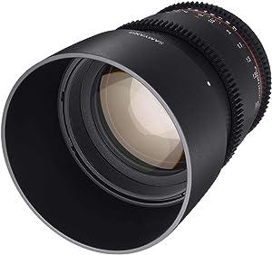 Samyang F1313001101 - Objetivo para vídeo VDSLR para Canon EF (Distancia Focal Fija 85mm, Apertura T1.5-22 AS IF UMC II, diámetro Filtro: 72mm), Negro