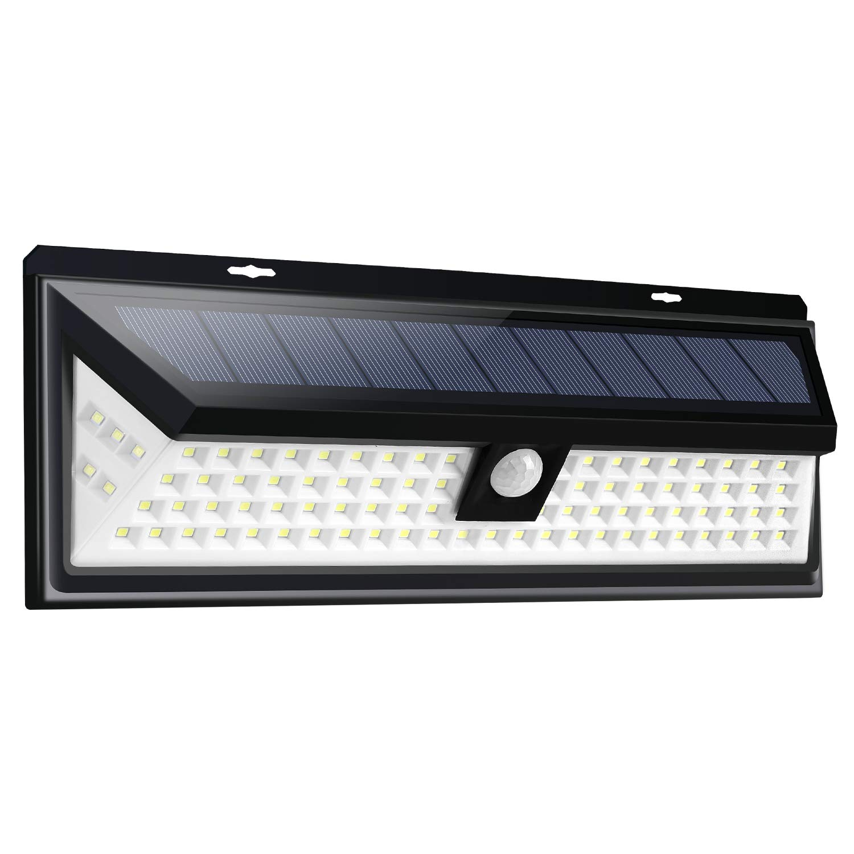 Jsunck Solar Light Outdoor, 90 LED Motion Sensor Light with Wide Angle for Garden, Garage, Hallway, Back Yard