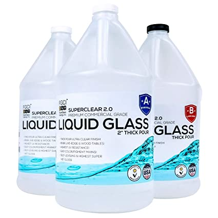 Deep Pour Epoxy Resin Crystal Clear Liquid Glass 2 4 Inch 3 Gl Resin Kit Self