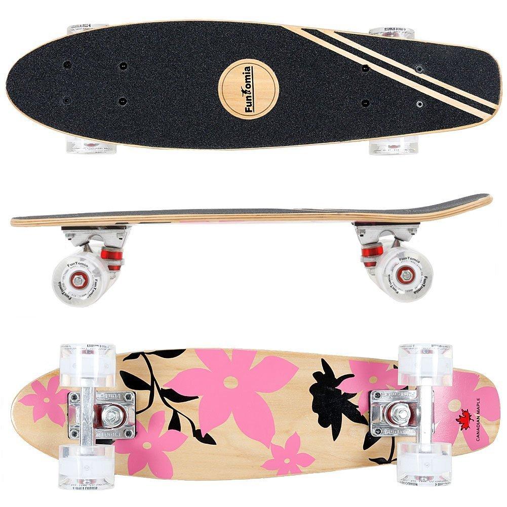 FunTomia® Mini Skateboard cm capas de arce canadiense con o sin LED