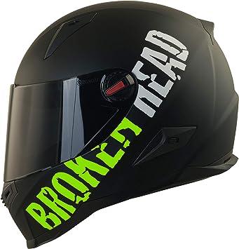 Gr/ö/ße S 55-56 cm Motorradhelm Mit Schwarzem Zusatz-Visier Broken Head BeProud Matt-Schwarz /& Orange