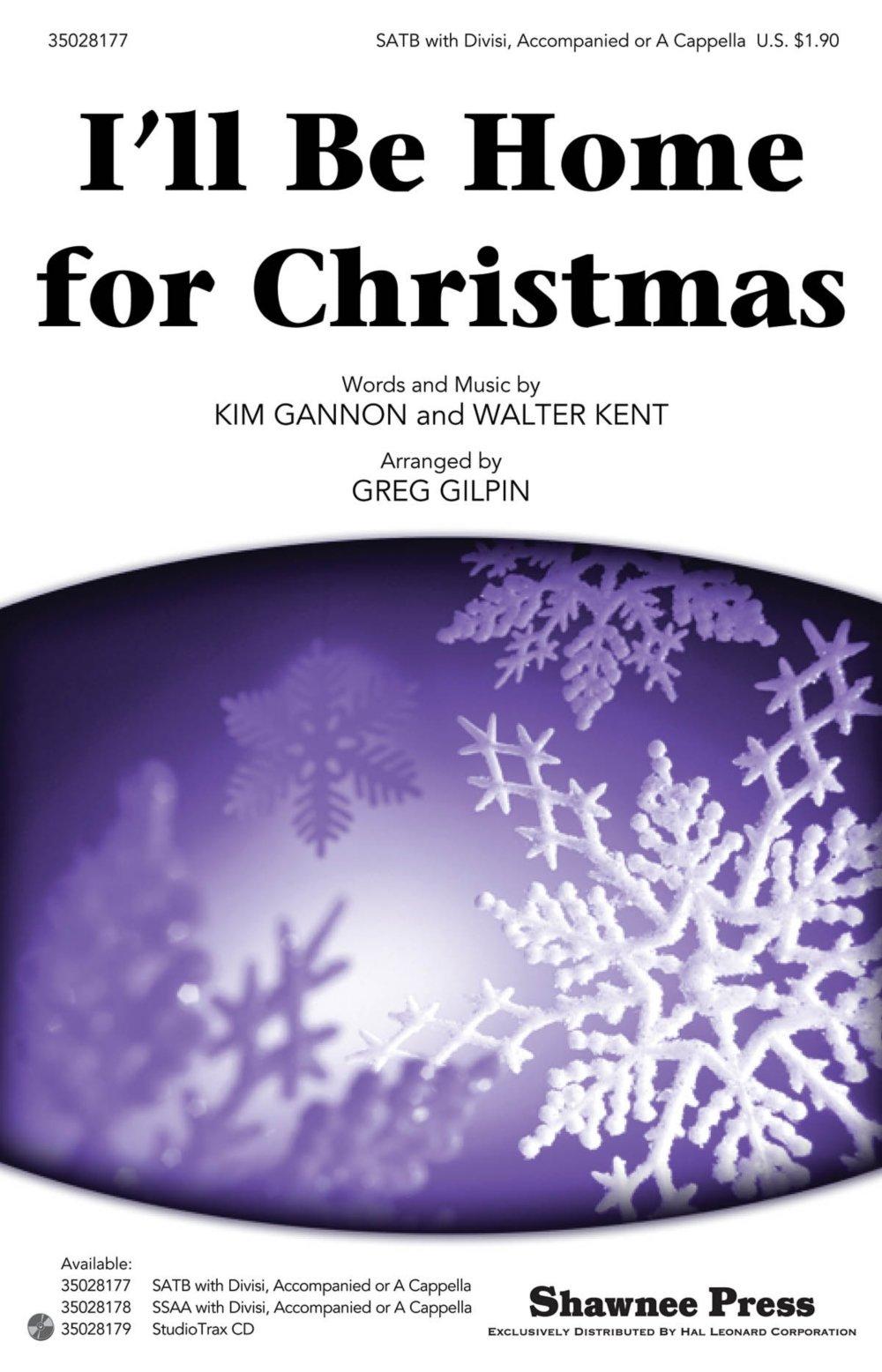 Download Shawnee Press I'll Be Home for Christmas Studiotrax CD Arranged by Greg Gilpin pdf epub